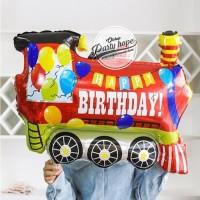 Balon Foil Train Balloon HBD / Balon Foil Kereta Api Balon HBD