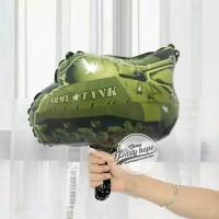 Balon Foil mobil army tank / Balon Mobil / Balon Mobil Keren MINI Size