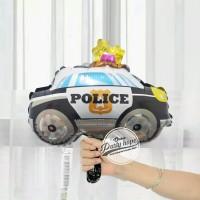 Balon Foil mobil polisi / Balon Mobil / Balon Mobil MINI Size police
