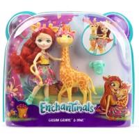 BONEKA ENCHANTIMALS Doll Playset -GILLIAN GIRAFFE & PAWL