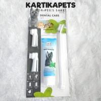 Bioline toothbrush set/Sikat gigi anjing kucing/Odol anjing kucing