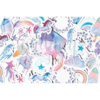 Stiker Unicorn Pelangi Rainbow Lucu Sticker DIY Scrapbook GH 303378