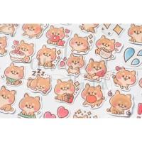 Stiker Hacihko Gendut Shiba Inu Lucu Sticker DIY Scrapbook GH 303383