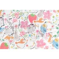 Stiker Penguin Flower Dog Cat Lucu Sticker DIY Scrapbook GH 303381