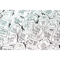 Stiker Gratefull Winter Lucu Sticker DIY Scrapbook GH 303379