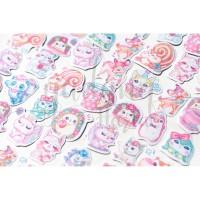 Stiker Forest Baby Landak Pink Kucing Lucu DIY Scrapbook GH 303384