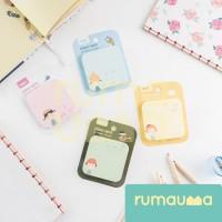 RUMAUMA 4 Set Sticky Note Cute Girls Memo Post It - Sicky Note Lucu