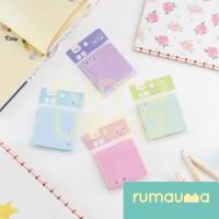 RUMAUMA 4 Set Sticky Note Lucky Lovegirl Memo Post It - Set Sicky Note