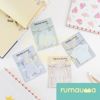 RUMAUMA 4 Set Sticky Note Clothes Memo Post It - Set Sicky Note