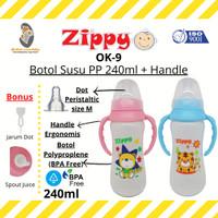 MLB - Zippy OK-9 Botol Susu PP 240ml + Handle