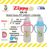 MLB - Zippy OK-10 Botol Susu PP 240ml + Handle