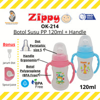 MLB - Zippy OK-214 Botol Susu PP 120ml + Handle