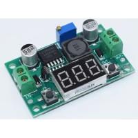 LM2596S Step Down Buck Converter adjustable + LED Voltmeter DC penurun