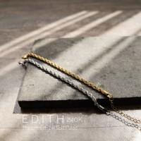 Dear Me - EDITH Bracelet Titanium 24k Gold Plated Gelang Rantai Wanita