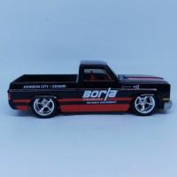 Diecast Hotwheels Hot wheels HW Chevy silverado shop trucks borla
