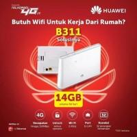 Home Router Modem Huawei B311 4G LTE Unlocked Free TELKOMSEL 14GB