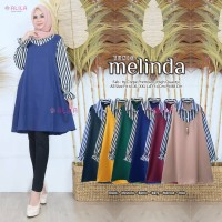 baju wanita remaja dewasa atasan melinda blouse muslim simple polos