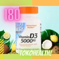 Doctor's Best, Best Vitamin D3, 5000 IU, 180 Softgels