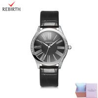 jam tangan wanita Rebirth leather strap bisnis waterproof