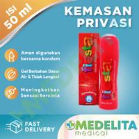Strawberry Lubricant 50 ml With Pump / Lubricating Gel - FIESTA