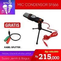 Microphone Condensor Studio Vlog Smartphone Mic Handphone Audio SF-666