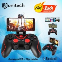 Gamepad Wireless Bluetooth Android X3 T3 With Clip Phone Holder