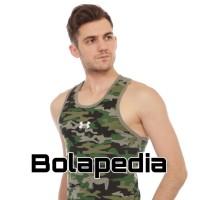SINGLET ARMY - baju kaos gym fitnes fitness pria underarmour training