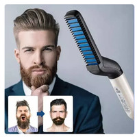 HAIR STYLER COMB FOR MEN | meluruskan rambut keriting dan berantakan