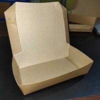 PAPER BOX LUNCH LARGE - COKLAT PAPER BOX KERTAS PAPER TAKE AWAY
