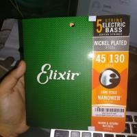 Elixir 14202 Nanoweb Light Long Scale 5-String Bass Strings 45-130 sl