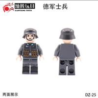 lego Minifigure army military NAZI German Jerman Soldier World War 2