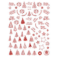 Pretty Christmas Tree Star Ultra Thin Nail Sticker Stiker Kuku CB150