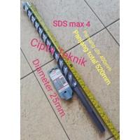 Mata Bor Beton 25mm x 520mm SDS Max 4 Bosch / Hammer drill bit