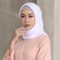 Hijab Wanita Plain Scarf Voal Diario White Series