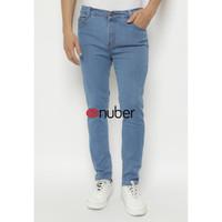 Celana Panjang Slim Fit Stretch Soft Jeans Pria Biru Nuber- Amethyst