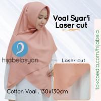 Jilbab Segiempat Hijab Segi Empat Voal Miracle Syari Ultrafine Syar'i