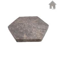Marble Coaster - Tatakan Marmer Hexagonal Abu Loreng D10