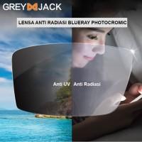 Lensa kacamata anti radiasi blue ray photocromic anti uv bisa minus