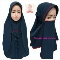 Jilbab Instan Masker Hijab Anak Tanggung Niqob Cadar 3in1 Gotik - Lime