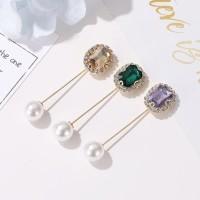 tuspin mutiara kristal pearl square crystal brooch jbr058