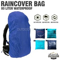 Cover Bag 80 Liter Waterproff - Rain Cover Sarung Penutup Tas Outdoor