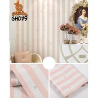 Home Wallpaper Sticker Dinding Salur Bintang Pink - 45cm x 10m