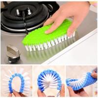 Sikat Lengkung Fleksible Cleaning Brush Toilet WC Wastafel Lantai