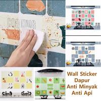 Wallpaper Stiker Dapur ANTI MINYAK Wall Sticker Aluminium Foil 45x70