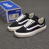 SEPATU VANS VAULT OLD SKOOL OG BLACK WHITE GRADE ORIGINAL