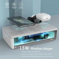 UV - C Sterilizer Wireless Charger 3 in 1 Box anti virus
