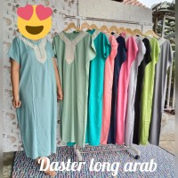daster long arabia - Hitam, all size