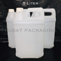 [BARU] Jerigen 5 Liter HDPE Segel / Jerry Can / Botol 5000ml / 5kg