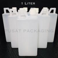[BARU] Jerigen 1 Liter HDPE Non Segel / Jerry Can / Botol 1000ml / 1kg