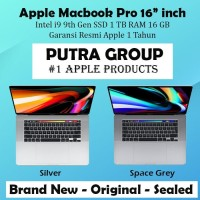 "Macbook Pro 2019 MVVK2 Grey 16"" inch Intel i9 SSD 1TB RAM 16GB - 1 TB"